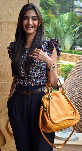 what a cute outfit on sonam kapoor. <3 her ability to fuse indian and western designs so effortlessly. #cuyana #packing