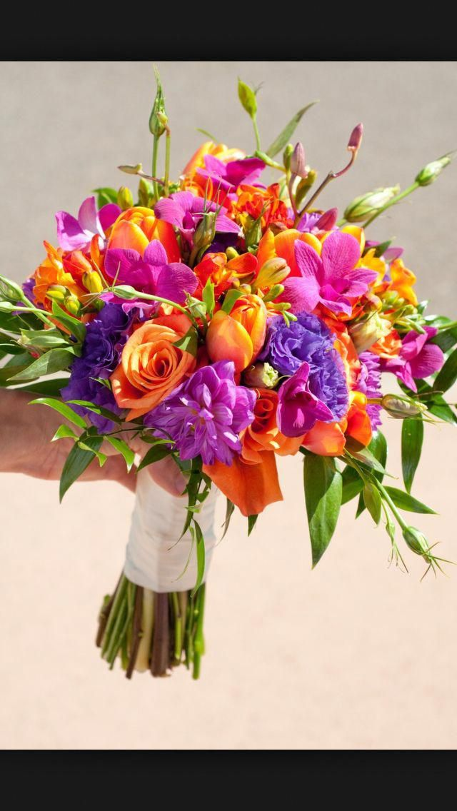 Wedding Flowers Online Packages Uk Bright Wedding Flowers Bright Wedding Bouquet Orange Wedding Flowers