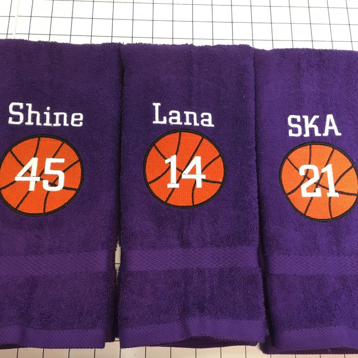 Personalized sport towels, basketball towel, monogrammed