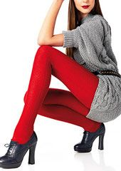 Le Bourget Laine Cable Wool Tights Thumbnail