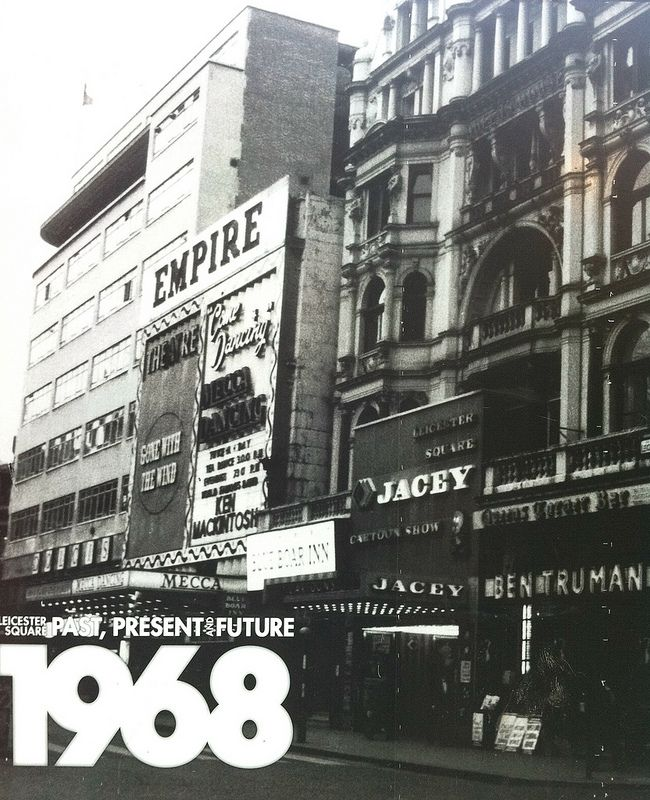 Jacey and Empire Cinemas Leicester Square circa 1968