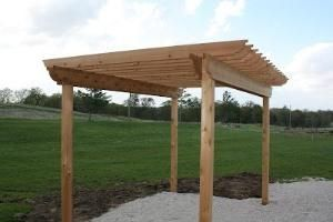 The Hansen Family: How to build a pergola by marianne
