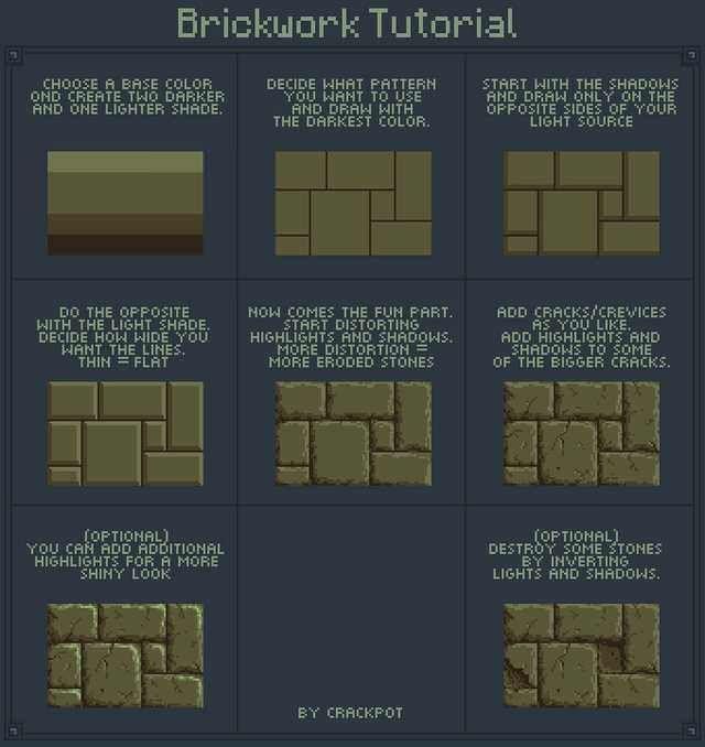 [OC][TUTORIAL] PixelArt Brikwork Tutorial – Pixel Animationen/Shapes/Zeichenhilfe