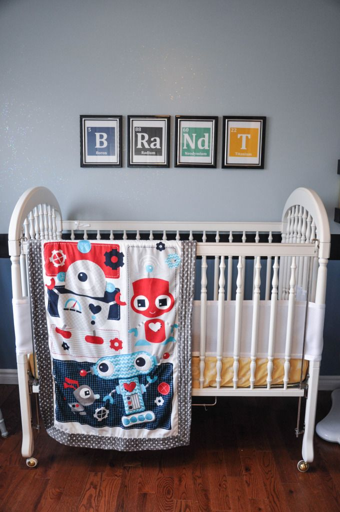Science-themed Nursery - great ideas for a baby boy!