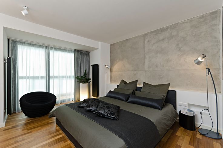 OOOOX | CORNLOFT - bedroom with cement wall