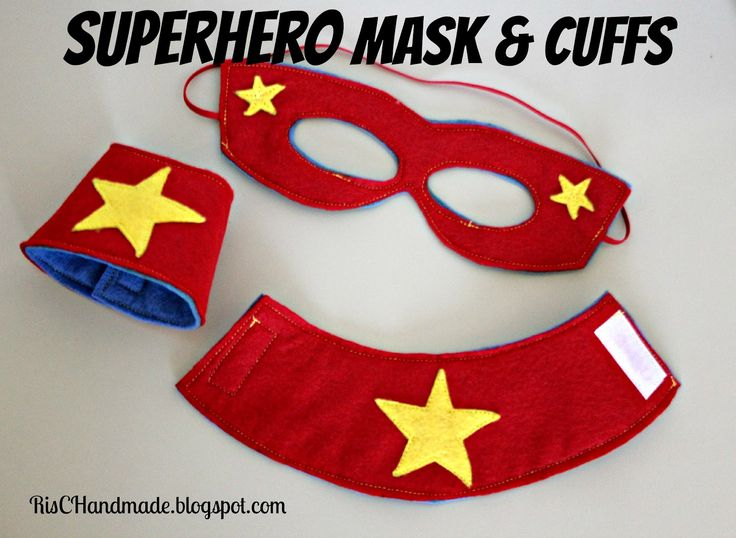 Superhero+Mask+Pattern | Superhero Mask Template