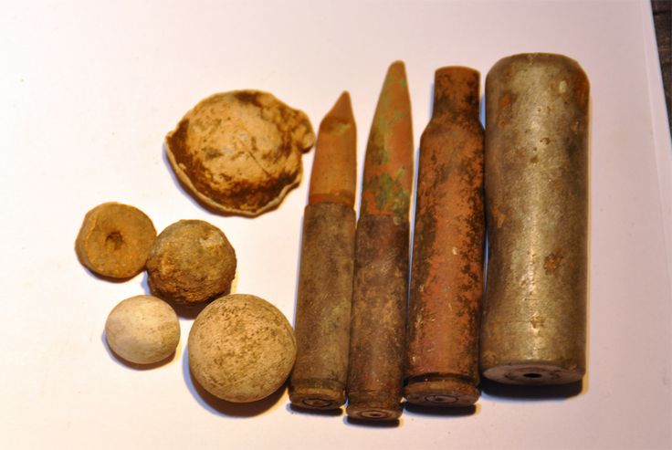 cartridges and lead balls