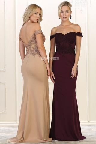 Off the shoulder evening gown & formal dress Mq 1529 - CLOSEOUT ...