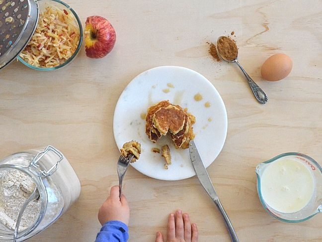 This apple pancakes recipe is wholesome and quick - perfect for busy weekday mornings. Try a pancakes recipe with added maple and apple flavour!