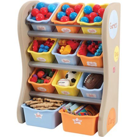 Step2 Storage Bin Organizer, Tropical Colors