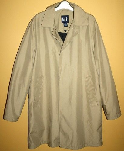 GAP Men's Mac Jacket Beige Small S Lined Pockets  Very Nice Condition Starting bid: $29.99 But It Now: $49.99