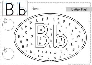 Phonics Letter of the Week Bb {FREE}: Uppercase and Lowercase Letter Find... use dot paint, markers, highlighters, stickers, etc. Could also laminate them so that they can be reused.