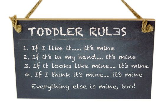 Kid's Playroom Sign No. 6  Toddler Rules by Lil' Brett & Co. on Etsy