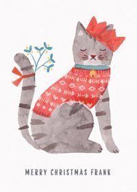 Christmas Cat | Personalised Christmas Card