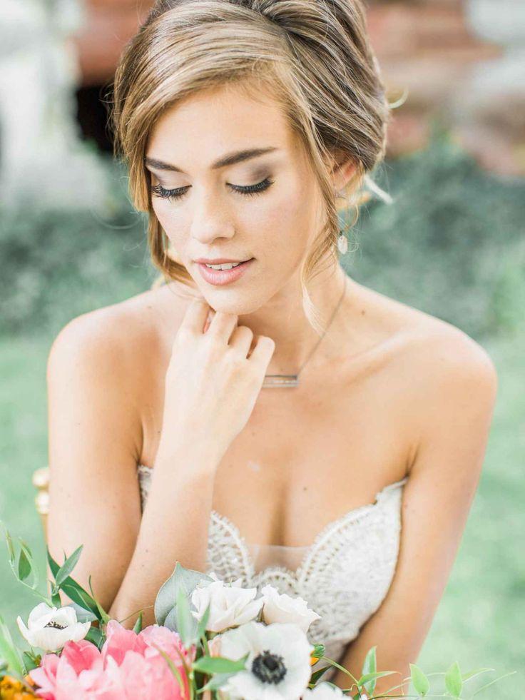 Soft and romantic bridal hair and makeup - Summer Splendor: A Whimsical Garden Wedding at Henderson Castle | WeddingDay Magazine