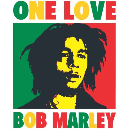 Estampa para camiseta Bob Marley 000189