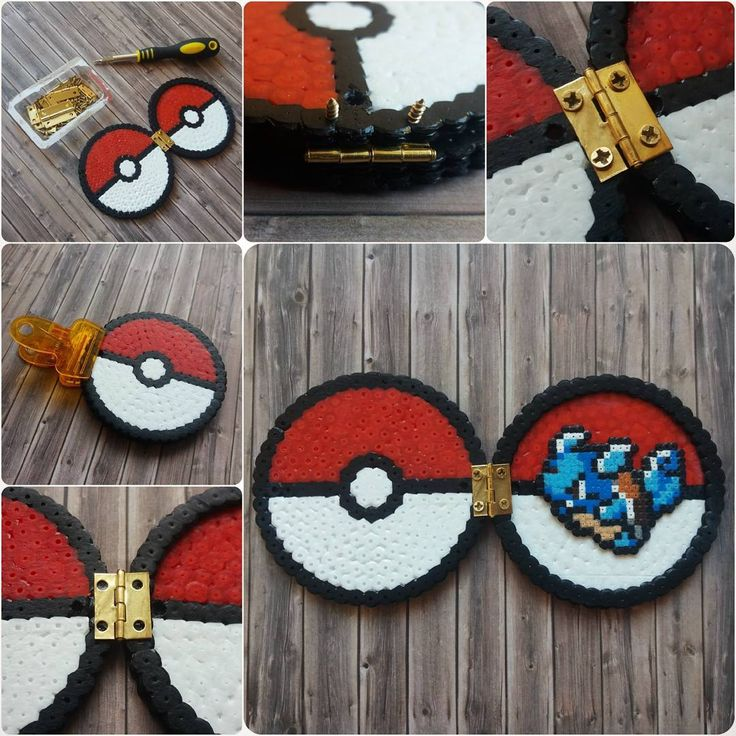 DIY Pokémon Box with hinge (screws vs glue) - Perler Beads - Beadsmeetgeeks