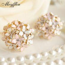 Stud Earrings for Women Female 2017 Boucle d'oreille Crystal Flower Clover Earring Gold Bijoux Jewelry Brincos Mujer //FREE Shipping Worldwide //