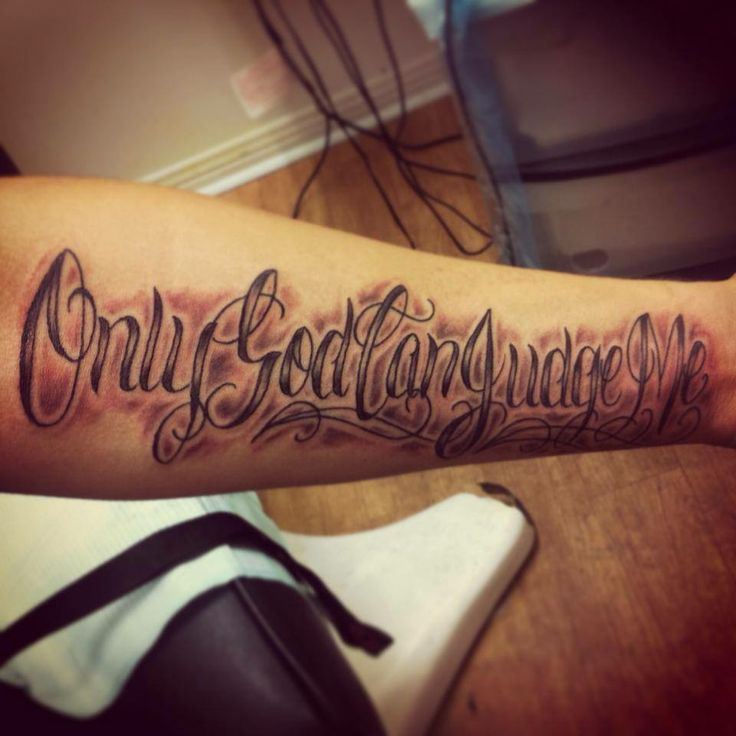 Only God Can Judge Me #OnlyGodCanJudgeMe #tattoo www ...