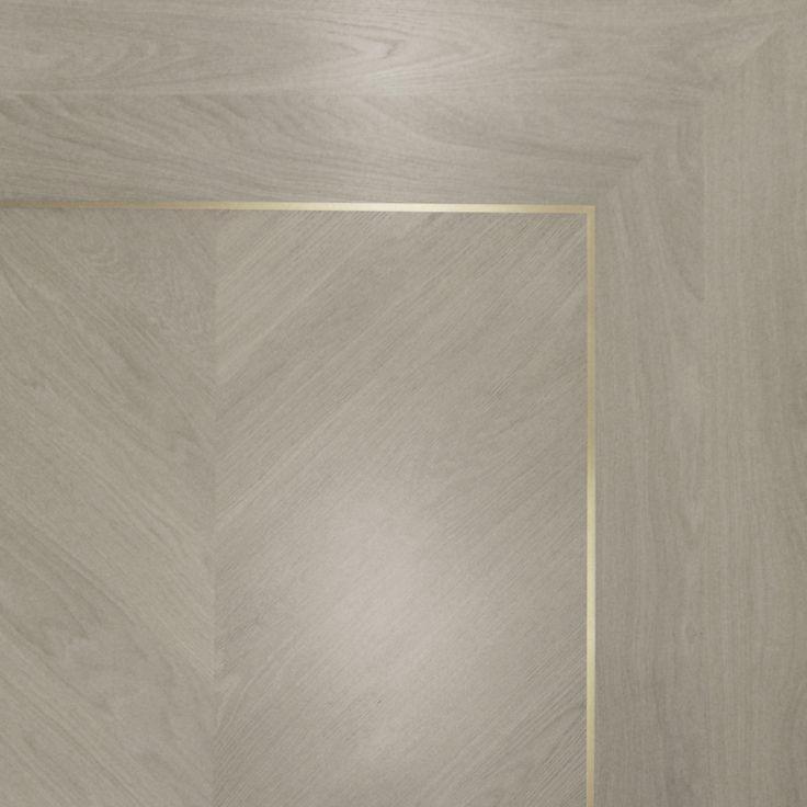 Grey parquet & metal timber