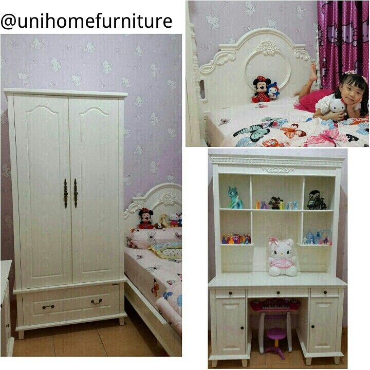 Been wanting to repost this beautiful bedroom by our customer featuring the Bed, Desk Princess and Wardrobe Queen. Available at #unihomefurniture #unihometestimonial