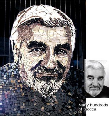 Glass Mosaic Portrait from Photograph to Custom by Jackiesglass, $1750.00
