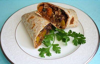 Vegan Black Bean Veggie Burritos