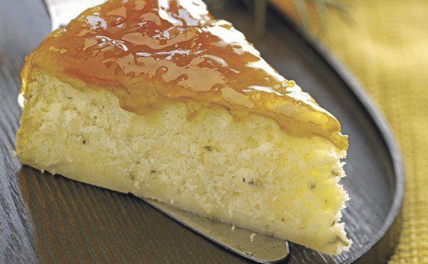 Rosemary Brie Cake with Peach Preserves Recipe