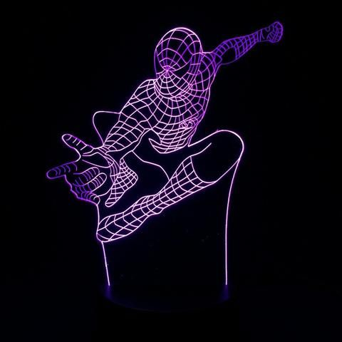 Spiderman 3D Illusion LED Lamp - Design 4