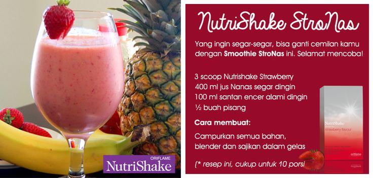 sajian nutrishake STRO-NAS.. sangat menngiurkan. lezat dan menyehatkan.. ingin mencoba???