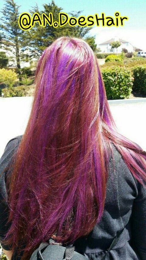 Purple peekaboos  #hair #purplehair