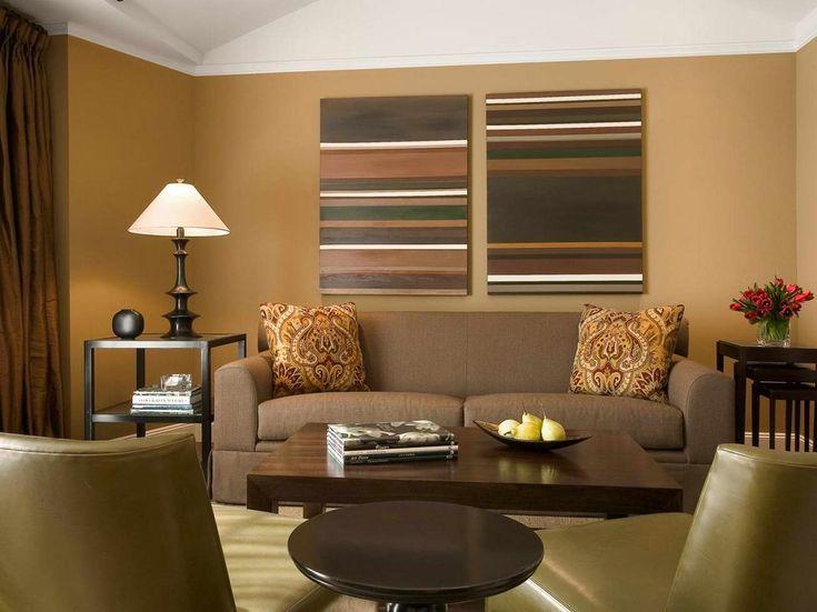 szoba szín és fal szín kiválasztása - barna