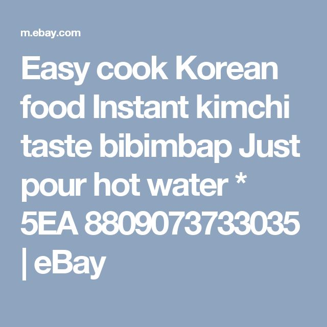 Easy cook Korean food Instant kimchi taste bibimbap  Just pour hot water * 5EA 8809073733035 | eBay
