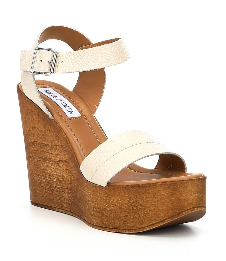 Steve Madden Belma Leather Wedge Sandals
