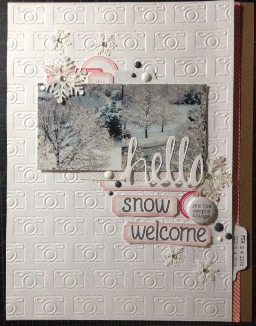 HELLO...Snow Welcome - Scrapbook.com
