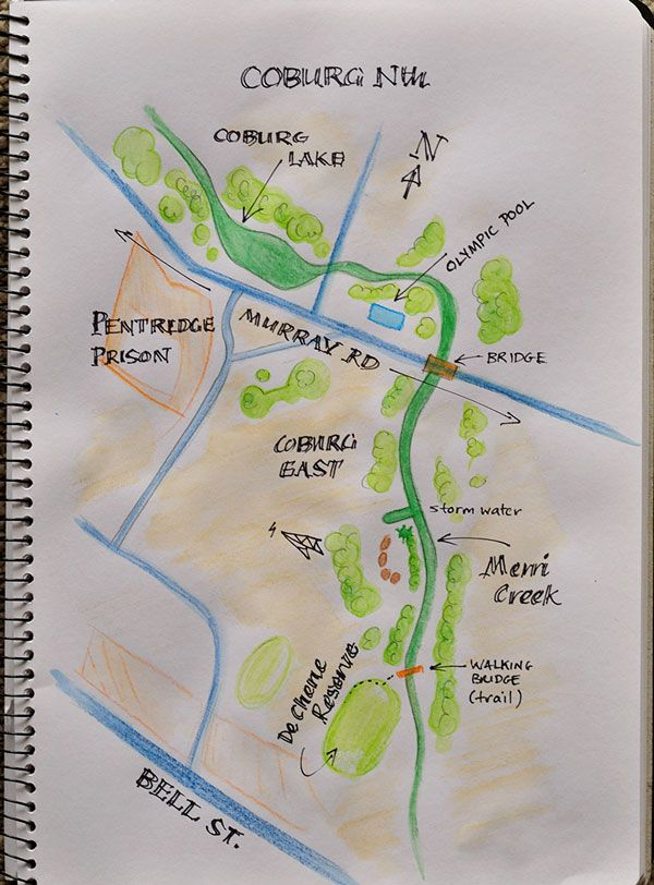 The Merri creek trail in Coburg, a stunning area for walking and relaxation. Easy to imagine what this place was like before Europeans took ownership.