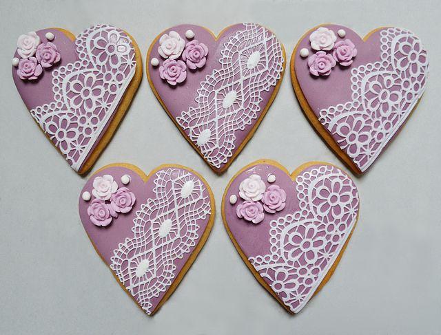 Purple Heart Cookies