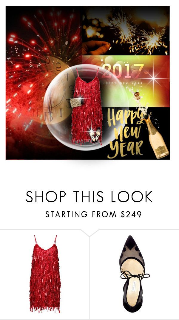 """Ring in the New Year in Red"" by cindycook10 ❤ liked on Polyvore featuring Ashish, Bionda Castana, Forest of Chintz, NewYears, sparkle and NewYearsEve"
