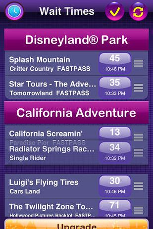 Download a wait time app to help organize your day. Not only will you get wait times for all the rides, but also a map — that will help you locate the all important bathrooms. / 18 Tips And Hacks To Make Your Day At Disneyland Better (via BuzzFeed)