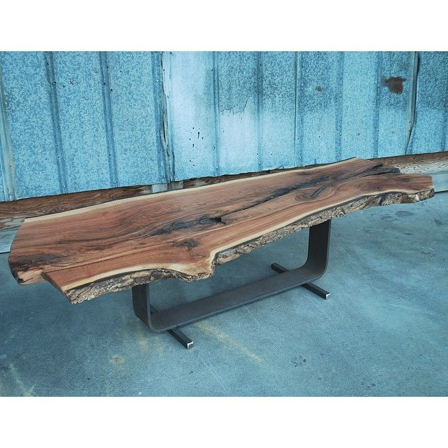 """Custom Walnut coffee table going out for delivery today.""  