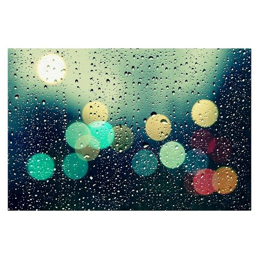 """Beata Czyzowska Young's """"Rainy City"""" Canvas Art is just the piece of wall art you've been searching for to complete your room's updated look. This vivid canvas photo will add depth and character to your home's modern décor. The durable canvas backing creates a rich, gallery finish. Built-in mounting hardware makes installation a breeze. Dimensions: 30"""" H x 47"""" W x 2"""" D."""