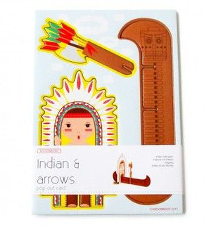 Indians and Arrows pop out card. Studio Roof.