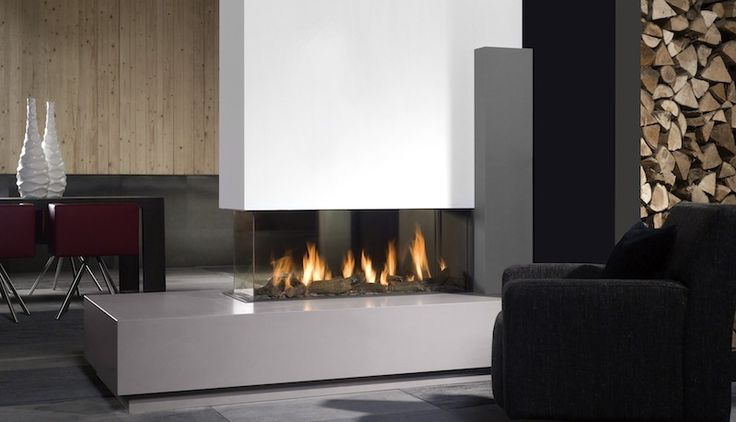 18 best images about driezijdige moderne haard op gas on pinterest open fireplace pebble - Deco moderne open haard ...