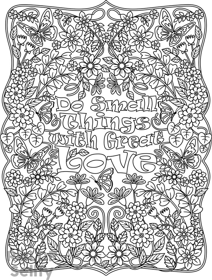 small coloring pages for adults - photo#13