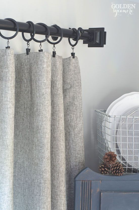 Gorgeous Grey Tweed Curtains And Black Curtain Rod From Prospect Vine The Golden Sycamore Posts In 2018 Pinterest Home Cozy House