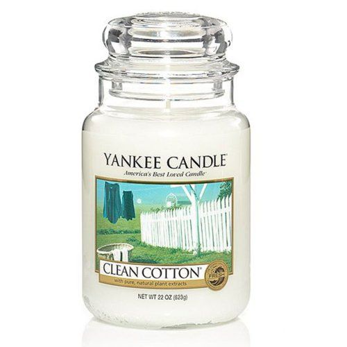 Une grosse bougie Yankee Candle - Clean Cotton