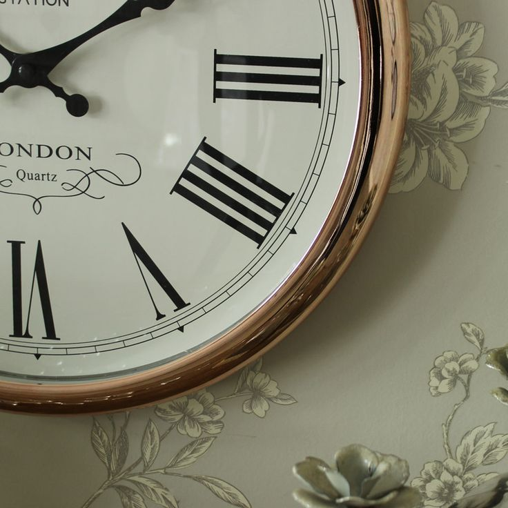 Large Round Copper Wall Clock 7 best