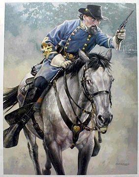 General Nathan Bedford Forrest - sadly became the first wizard of the Klu Klux Klan