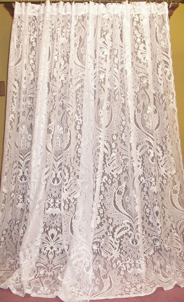 222 Best Vintage Lace Curtains Images On Pinterest Vintage Lace Floral Lace And Drapes Curtains