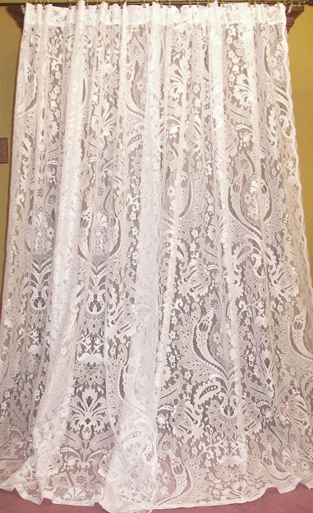 213 Best Images About Vintage Lace Curtains On Pinterest